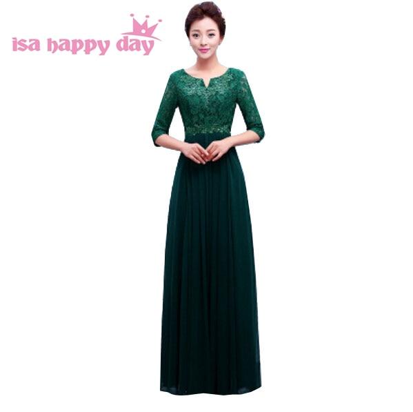 2019 robes de soiree longs a-line long beaded chiffon zipper half sleeve sequin green women   prom     dress   womens sexy   dresses   H3759