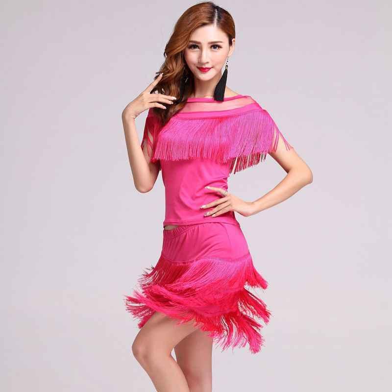 2020 חדש אופנה ביצועים תחרות נשים בגדי ריקוד ציצית תלבושות סלוניים שוליים לטיני שמלת סמבה קרנבל תלבושות