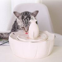 18*16 cm Pet Water Fountain Ceramic Automatic Dog Cat Pet Mute Drinker Feeder Bowl Drinking Fountain Dispenser Pet Products