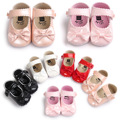 ROMIRUS Cute Pearly Color Baby Girls Shoes Butterfly-knot Classic Princess Shoes Soft  Baby Shoes First Walkers