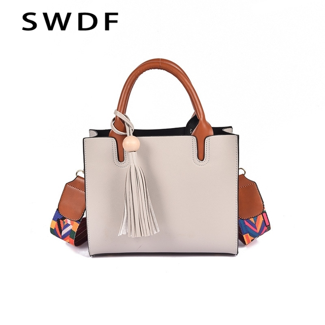 Women Leather Bags Handbags Famous Brands Casual Tote Spanish Brand Shoulder Bag