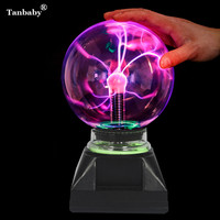 Tanbaby Novelty Magic PLASMA BALL RETRO Glass Plasma Ball 4 5 6 8 Inch Plasma Lighting