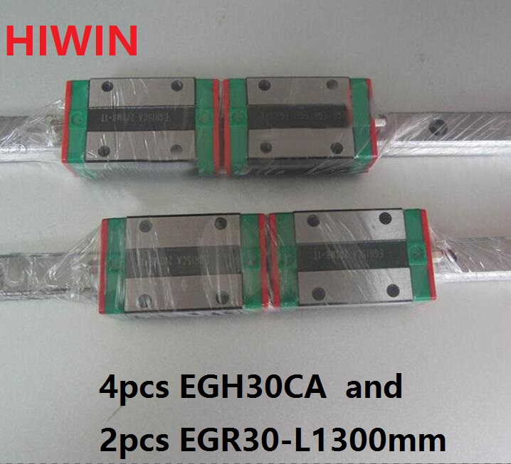 2pcs 100% original HIWIN linear guide EGR30 -L 1300mm + 4pcs EGH30CA linear block for CNC router 2pcs 100% original hiwin linear guide rail egr30 l 1800mm 4pcs egh30ca linear block cnc router