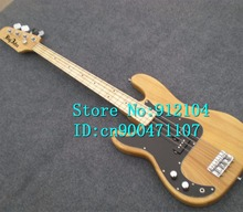free shipping new Big John left-hand 4 strings electric bass guitar with elm body in natural  F-1291