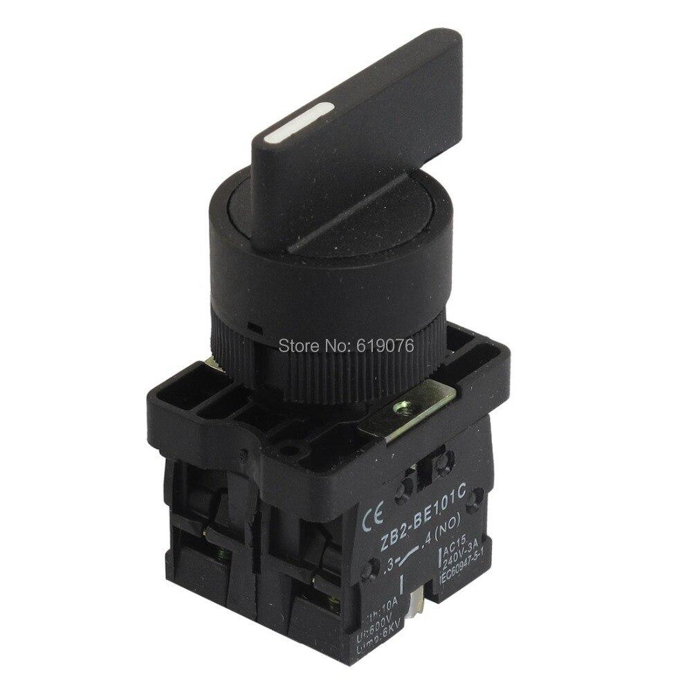 все цены на 22mm Latching 2 NO Long Handle 3-Position Rotary Selector Switch ZB2-EJ33 онлайн