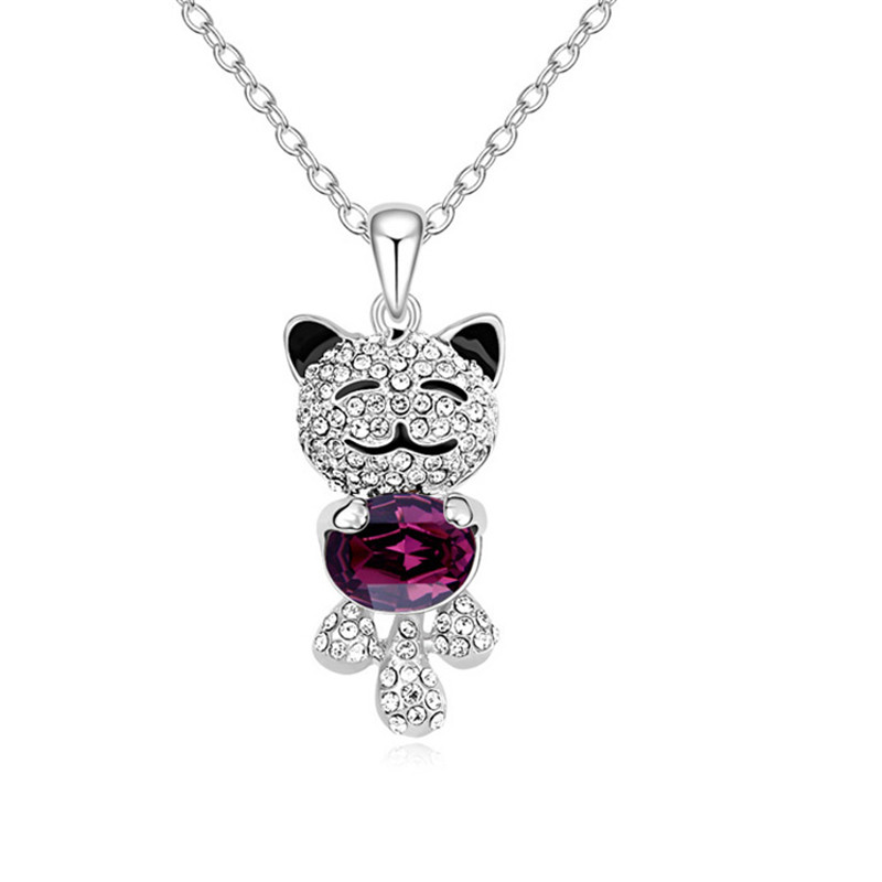 ②Lovely Cute Cat Pendant full ღ Ƹ̵̡Ӝ̵̨̄Ʒ ღ Rhinestone