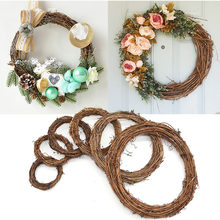 Wedding Decoration Wreath Natural Rattan Wreath Garland DIY Crafts Decor For Home Door Grand Tree Christmas Gift Party Ornament(China)