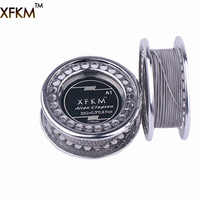 XFKM NI80/A1/316 5m/roll Alien fused Clapton for RDA RBA Rebuildable Atomizer Heating Wires Coil Tool Alien Clapton Heating Wire