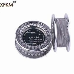 XFKM NI80/A1/316 5 м/рулон Alien Сплавленный Clapton для RDA РБА ввиду распылитель нагрева провода катушки инструмент чужой нагревающая проволока для