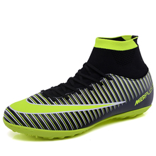 New Arrival Soccer Boots TF High Ankle Soccer Shoes Superfly Football Boots Outdoor Shoes цена