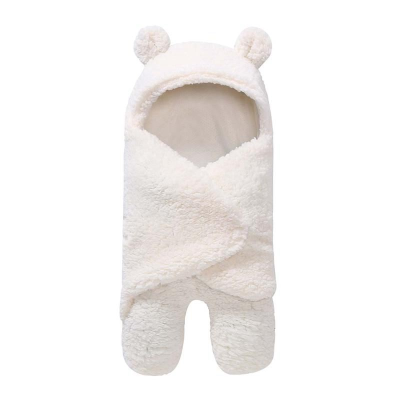 Baby Blanket Warm Cartoon Ear Toddler Envelope Sw Winter Winter Newborn Sw Package Sleeping Bag Bed Crib Quilt Baby Blanket
