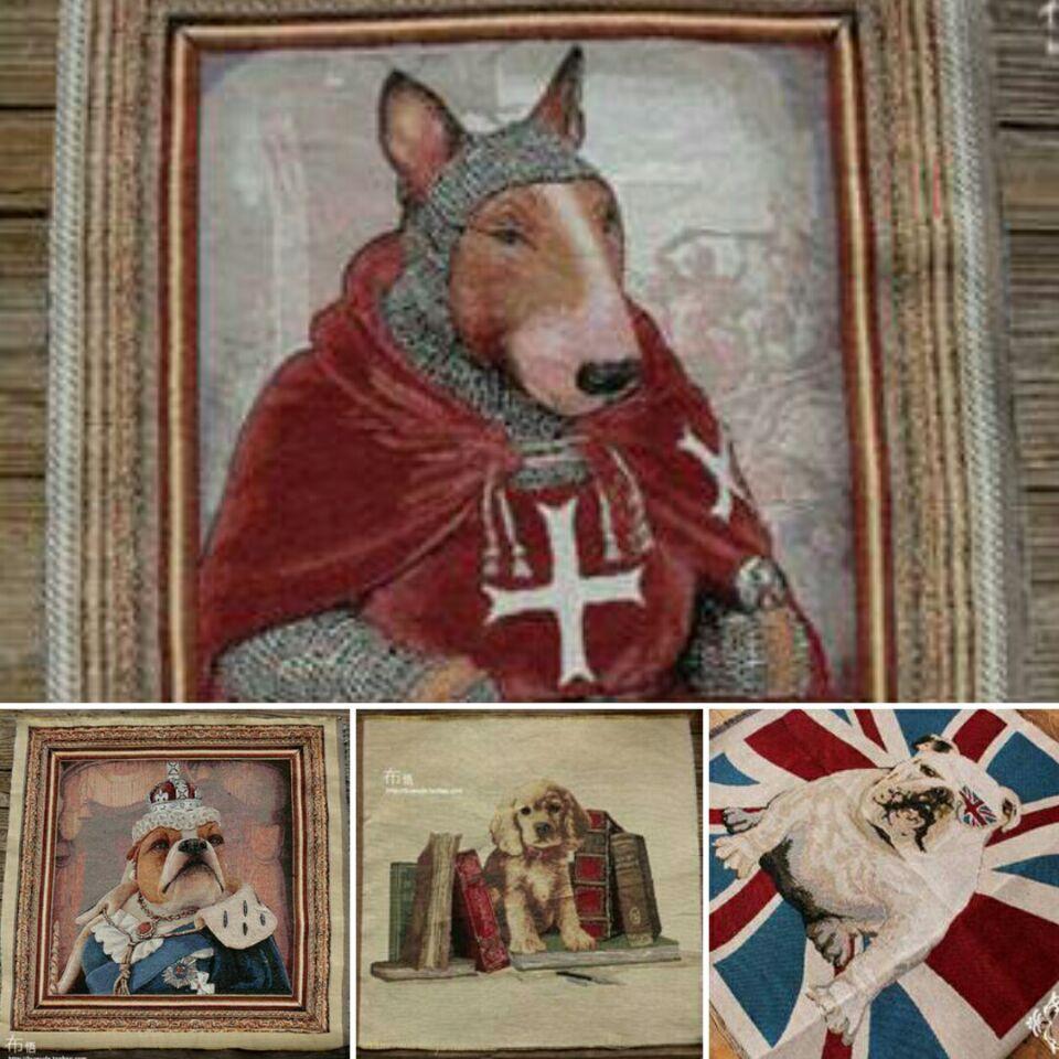 9 Farben 50x50 cm Hund Muster Polyester Baumwolle Stoff Für ...