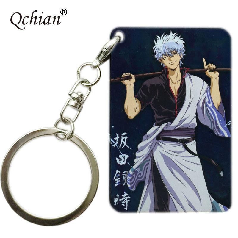 Anime Gintama Gintoki Keychain Lovelive Tokyo Ghoul Umaru-chan Gintama SAO many kinds Keychian Keyrings