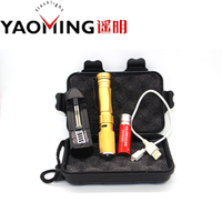 Golden USB Charger Mini Cree Xpe Q5 Led Flashlight Zoomable Led Torch With Pen Clip Include