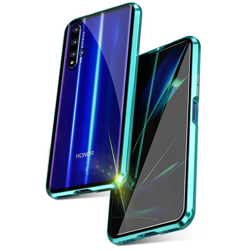 AmzBoon 360 Double Sided Full Magnetic Case For Huawei Honor 20 Pro Front Back Glass Case Cover For Huawei Honor 20i Magnet Case
