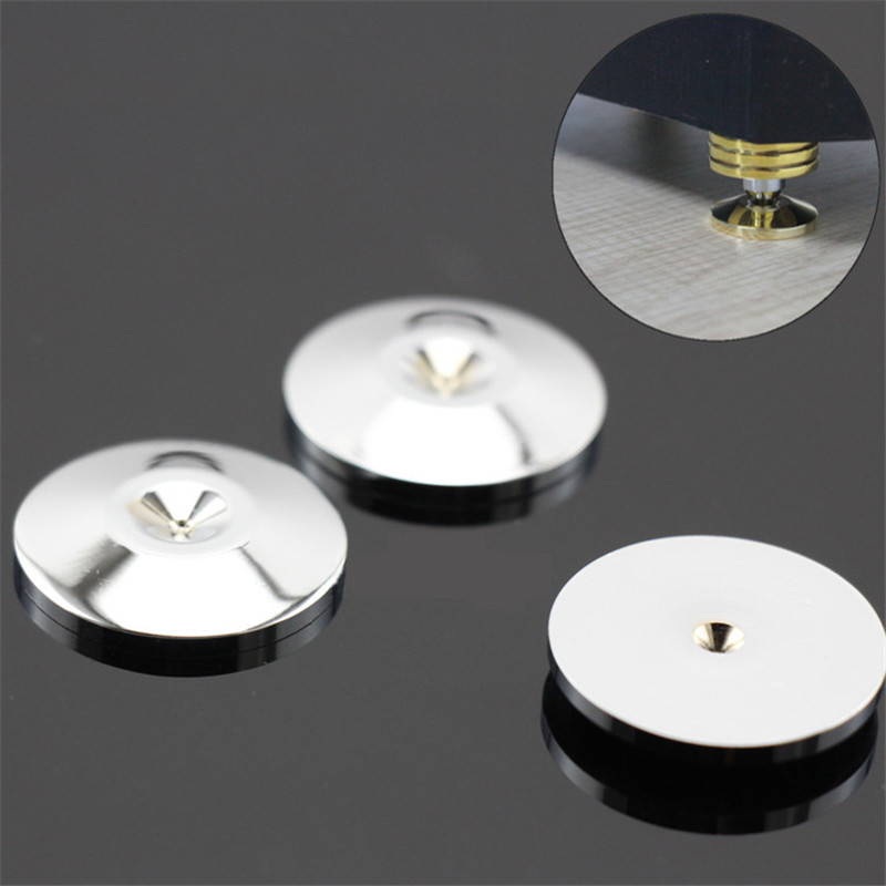 8pcs 30x7mm Sliver HiFi Equipment Speaker Stand Spikes Feet Base Pad Floor Disc Best Price Acoustic Components