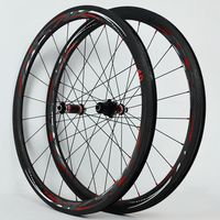 700C Carbon Fiber Road Bike Bicycle Wheels 40/55MM V/C Brakes direct pull opening fat ring