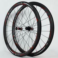 700C Carbon Fiber Road Bike Bicycle Wheels 40 55MM V C Brakes Direct Pull Opening Fat