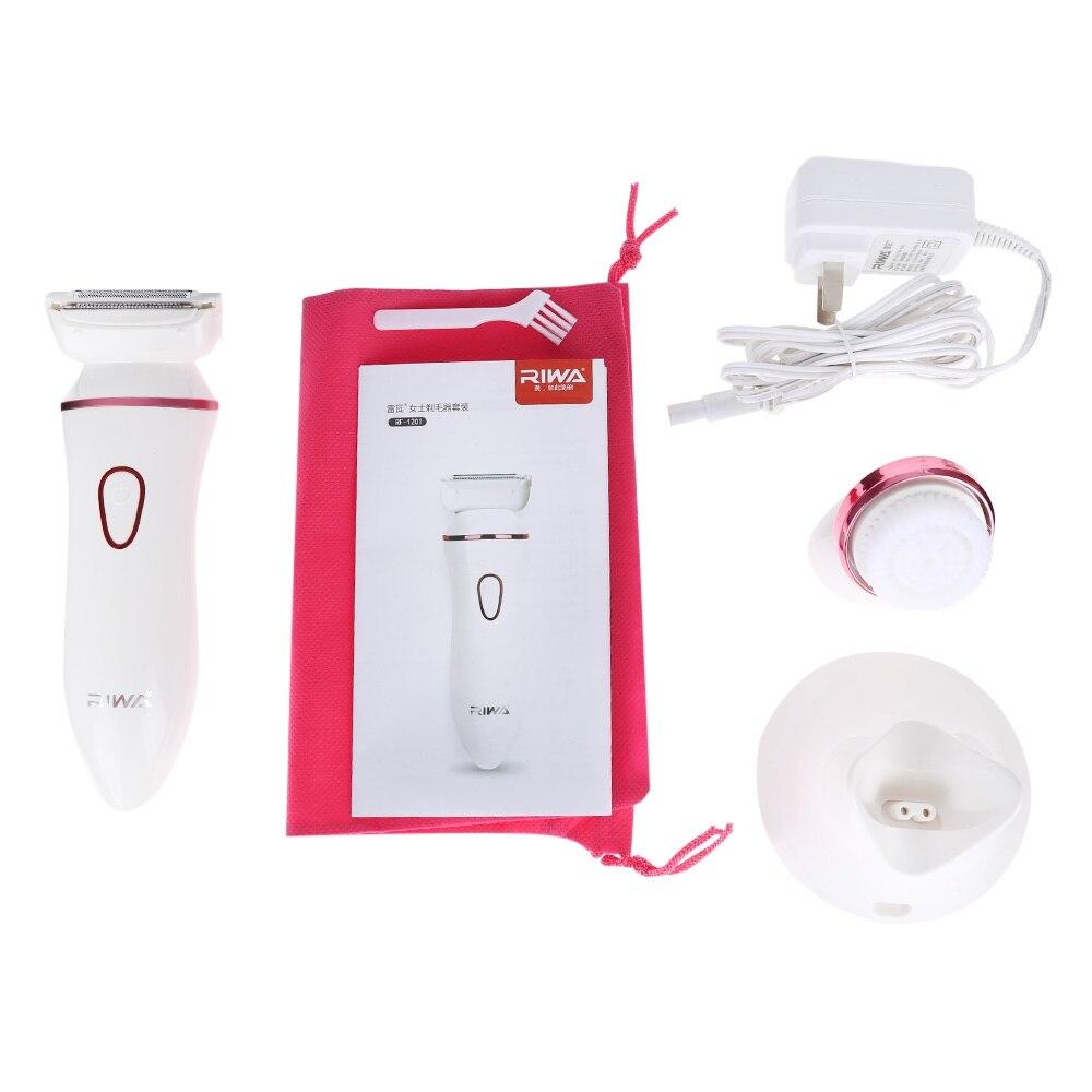 2 en 1 eléctrica de múltiples funciones facial Limpieza Cepillos afeitadora  señora spa masaje skin Cleaner Cuerpo en Cara Cuidado de La Piel  Herramientas de ... f0266c8f2d2e