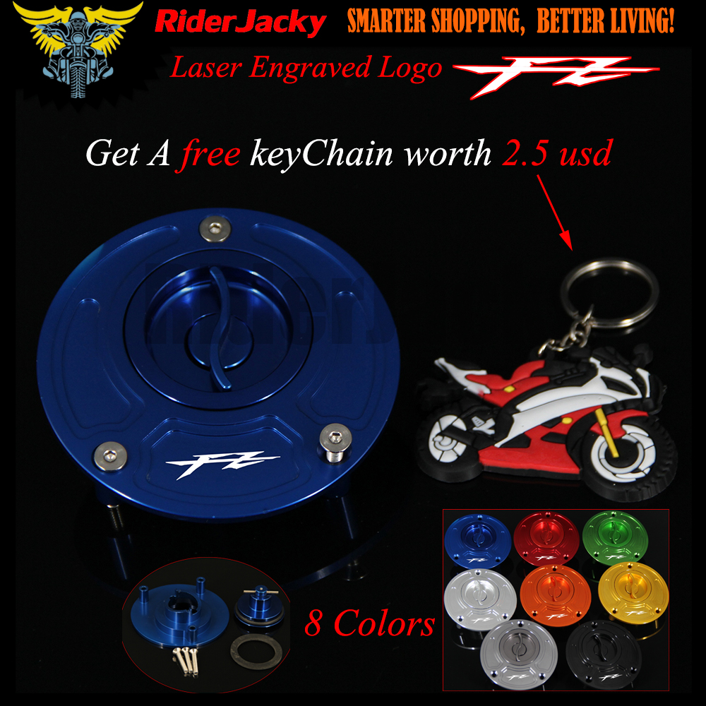Blue Red logo CNC Aluminum Keyless Motorcycle Accessories Fuel Gas Tank Cap Cover For Yamaha FZ16 FZ 16 2011 2012 2013 2014 2015 for yamaha fz 8 fz8 2010 2011 2012 2013 2014 motorcycle accessories cnc aluminum extendable brake clutch levers extending gold