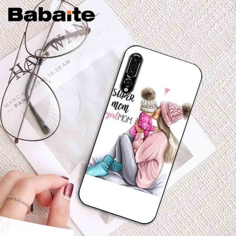 Babaite สีดำสีน้ำตาลทารกสาว Queen โทรศัพท์นุ่มสำหรับ Huawei P9 P10 Plus Mate9 10 Mate10 Lite p20 Pro Honor10 View10
