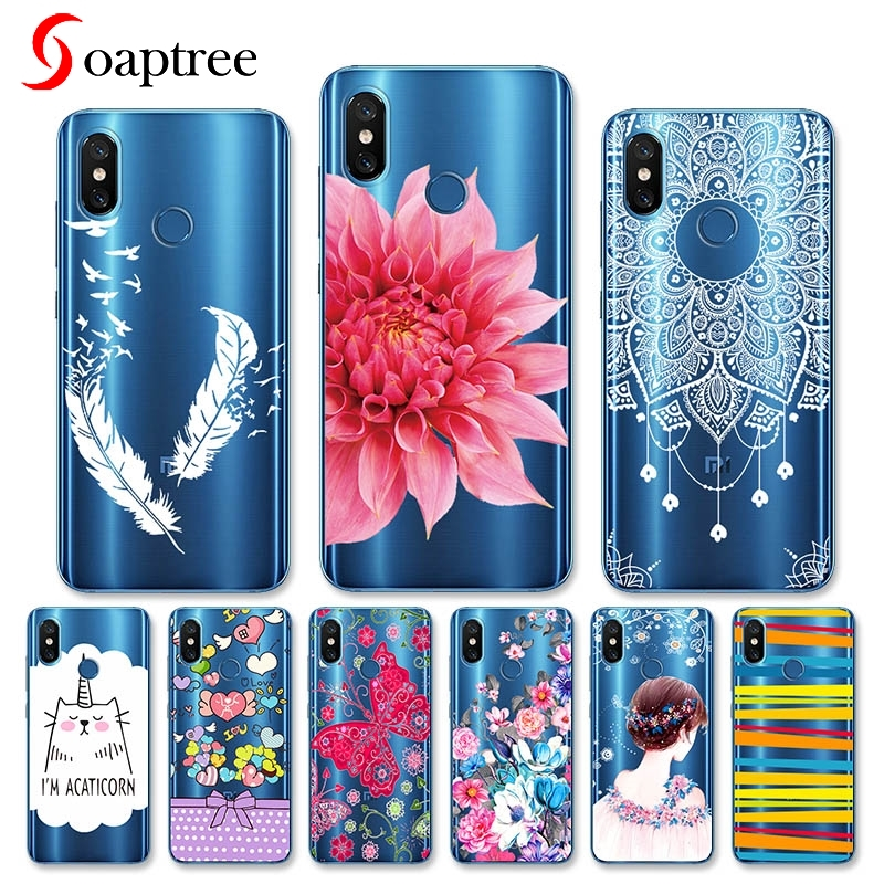 <font><b>Case</b></font> For Xiaomi Mi 8 Note 3 Mix 2s Mia1 Mi6x <font><b>Mi8</b></font> <font><b>SE</b></font> <font><b>Case</b></font> For Xiaomi Mi 5x Cover Transparent Painted Silicone Soft TPU <font><b>Cases</b></font> Etui image