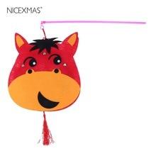 Kids Cartoon Lanterns DIY Handmade Chinese Zodiac Signs Animal Lanterns Material Package (Horse)