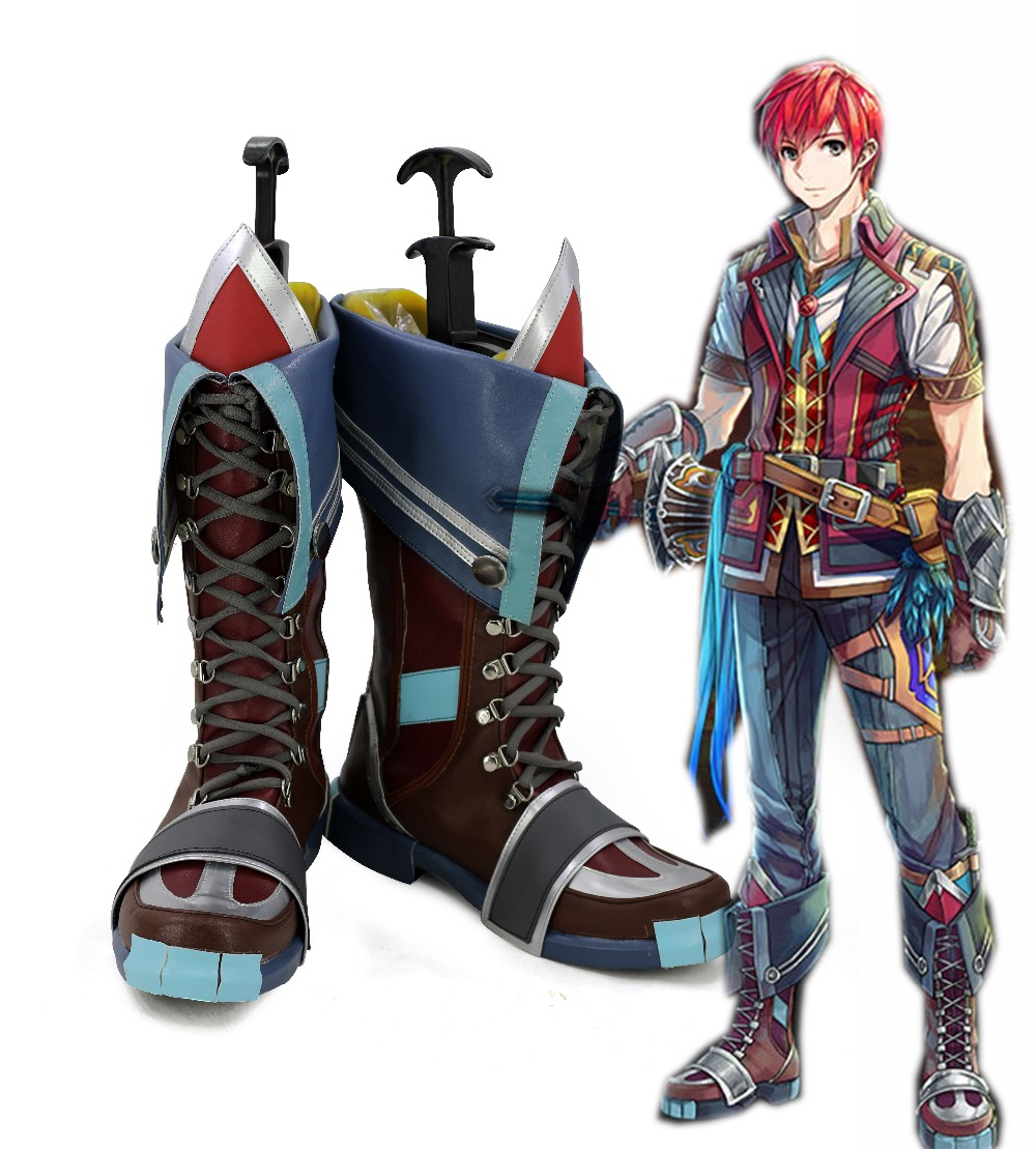 Game Ys VIII: Lacrimosa of Dana Cosplay Adol Christin Shoes Cosplay Costume Props Men Adult Halloween Carnival Boots Custom Made
