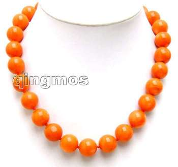 "Huge 13-14mm high quality 100% round Pink nature Coral 18"" Necklace With Lovely Shining Clasp -5214_4 Wholesale/retail"