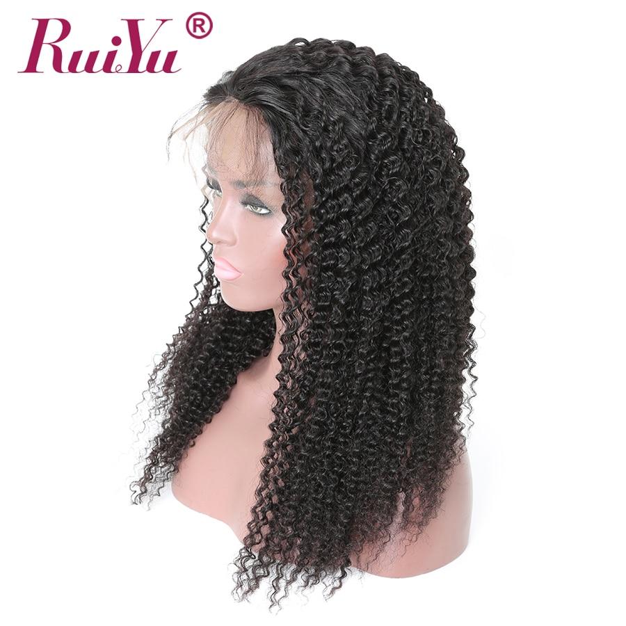 Rambut keriting rambut keriting keriting RUIYU Lace depan rambut - Rambut manusia (untuk hitam) - Foto 3