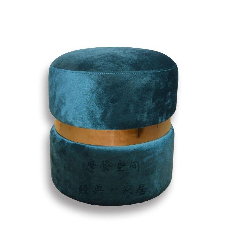 Style minimaliste salon loisirs chaise canapé pouf Sandwich cookie tabouret/tabouret/tabouret de maquillage/40*43 CMFlockingFabric Cover