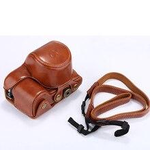 Из искусственной кожи Камера чехол для sony Alpha A6000 A6300 16-50 мм Объектив Ретро Винтаж сумка