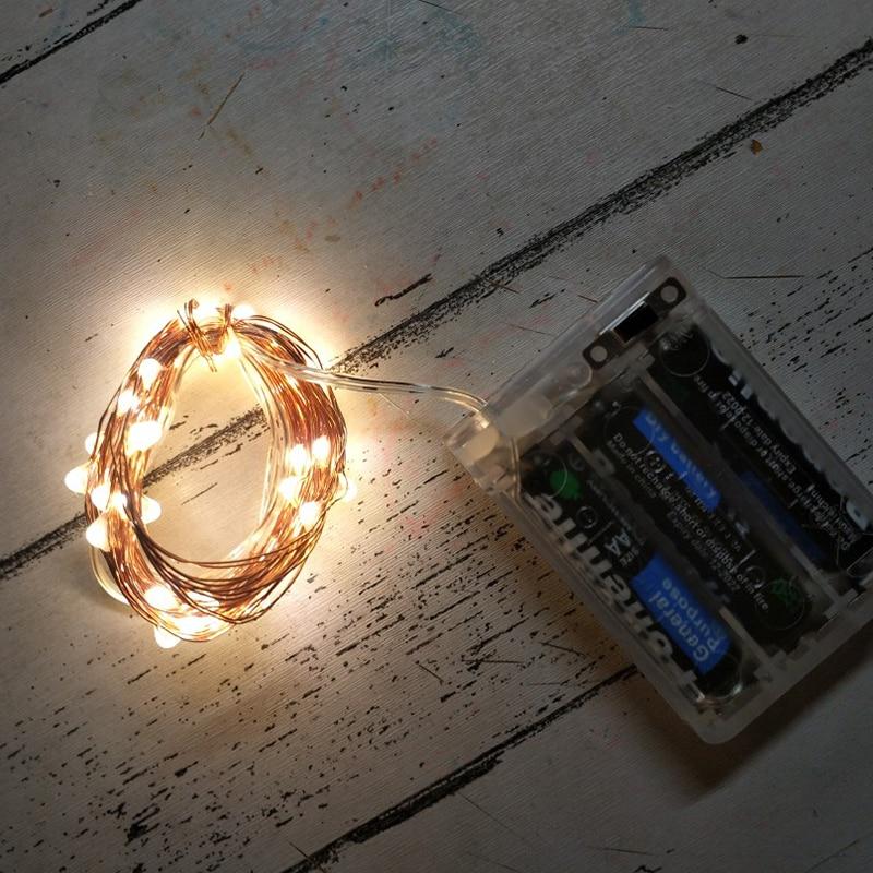 Flexible 2M 5M LED Garland Fairy Night Lights Bedroom Bedside Waterproof Craft Lamp For Indoor Home Decoration Ligting