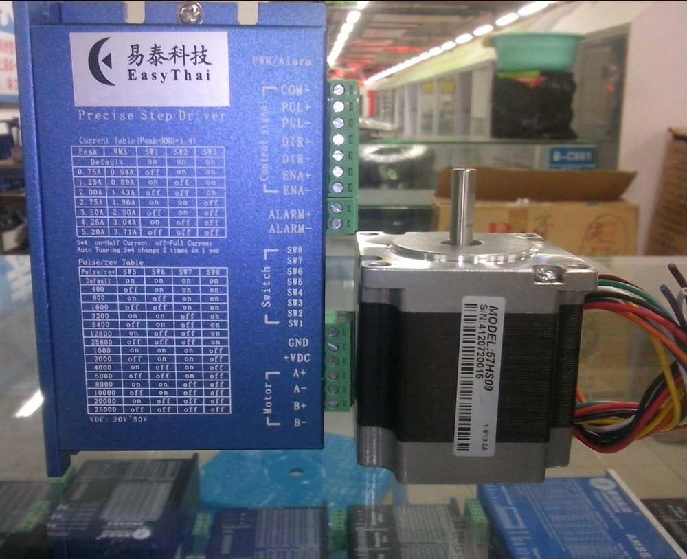 New Easy Thai CNC Digital stepper system 2DM442 Drives + 57HS09 stepper motor NEMA 23 a set work well in process machine 542 stepper drives new spot original v2 0 version 57 stepper motor