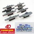 Montaje de plástico modelo de buque de guerra Kits ocho Stype diferentes 1:1000 escala 15 cm militar rompecabezas juguetes para niños envío gratis