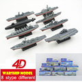 Plastic  Assembly Warship Model Kits Eight Stype Different  1:1000 Scale 15cm Puzzle Military Toys For Children Free Shipping