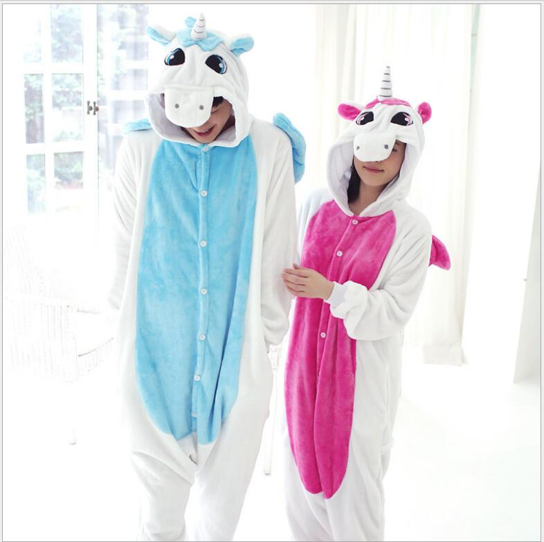 One piece Panda Unisex Unicorn Tenma Pajamas Sets Animal Costume Anime Sleepwear Party C ...