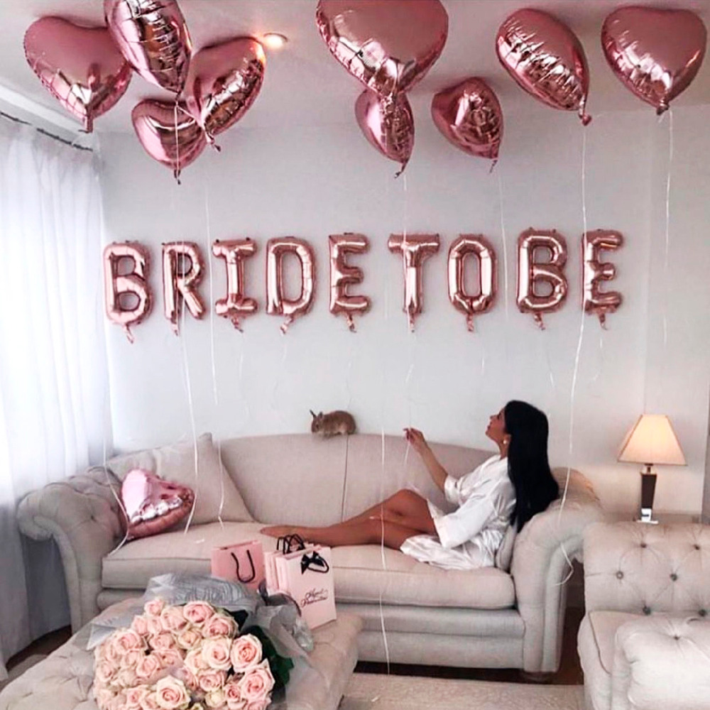 Happy Birthday Balloons The Year Funny Bride To Be Wedding Table Party Supplies