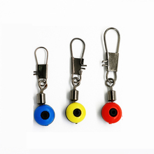 20PCS Lot Space Beans Fishing Connector Float Connector Rolling Swivel Fishing Supplies with font b Box