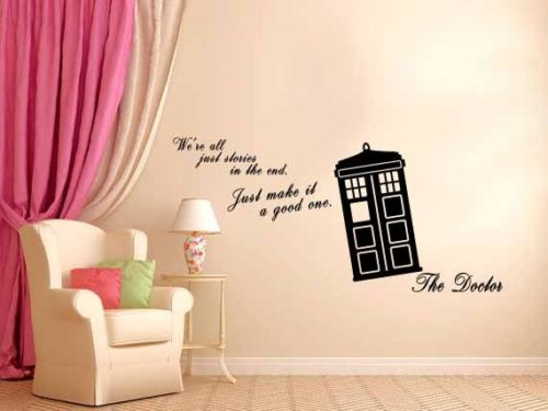 We Are All Stories   Doctor Who Tardis   Wall Decal Vinyl Sticker 22X38inch