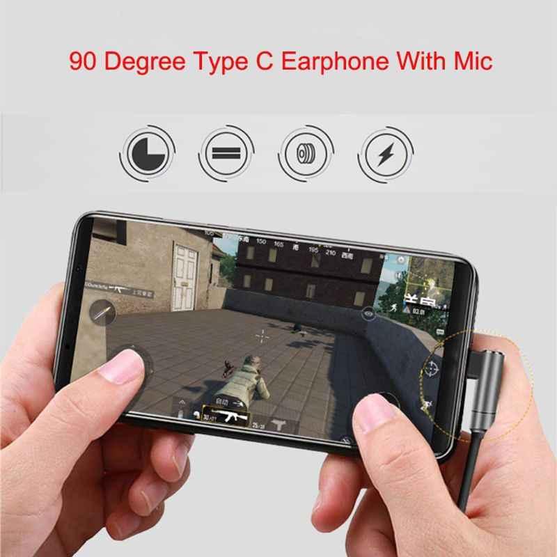Auricular de juego de 90 grados graves profundos de Metal en los auriculares mi c Control de volumen para Xiaomi mi 6 6X 8 mi x 2 2S Note 3