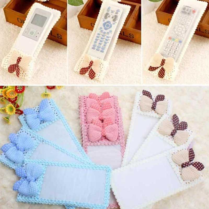 New Fabric Lace TV Remote Control Protect Anti-Dust Fashion Cute Cover Bags    LS