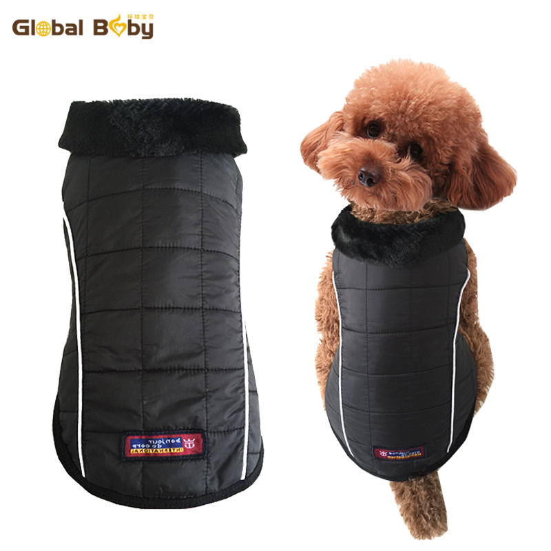 New Fashion Waterproof Pet Dog Vest Jacket Puppy Clothing Warm Winter Dog Coat Clothes with Fur Collar