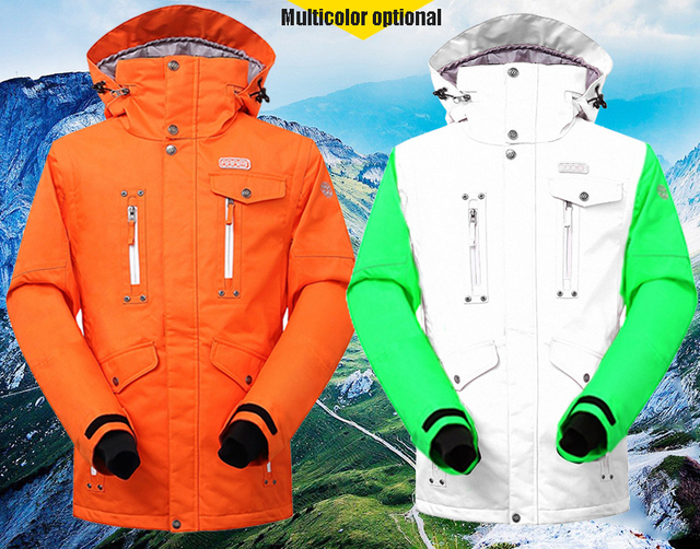 2018  Free Shipping Thermal Waterproof Windproof Snowboard Jackets Climbing Snow Skiing Clothes Men Outdoor  Winter Ski Jacket