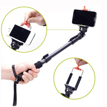 Yunteng C-088 Extendable Handheld Tripod Monopod Adapter Self Held with Telephone Clip for iPhone 5S 6 DSLR Digicam