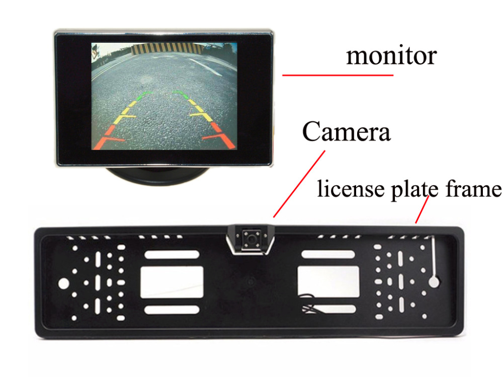 Car Rear View Parking Assistance license plate frame with Night Vision camera Car Rear View Camera