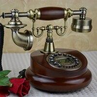 FSK/DTMF античный Европейский ретро стационарный телефон с идентификатором вызова часы Мелодия функция времени фиксированный телефон для дом...
