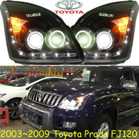 Prado Headlight LC120 FJ120 2700 4000 2003 2009 Free Ship Prado Fog Light 2ps Set 2pcs