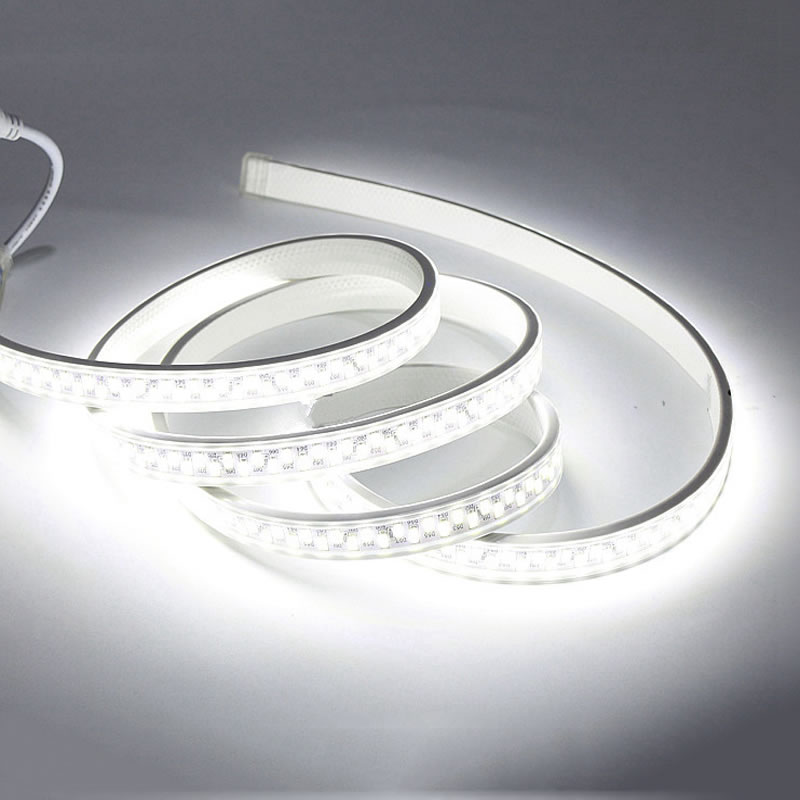 Waterproof LED Tape 5730 LED Strip Light 180led/m SMD 5630 220V 240V Power plug White/Warm White 1m 2m 3m 4m 5m 6m 7m 10m 100m e14 3w 300lm 3300k 6 smd 5630 led warm white light lamp silver 200 240v