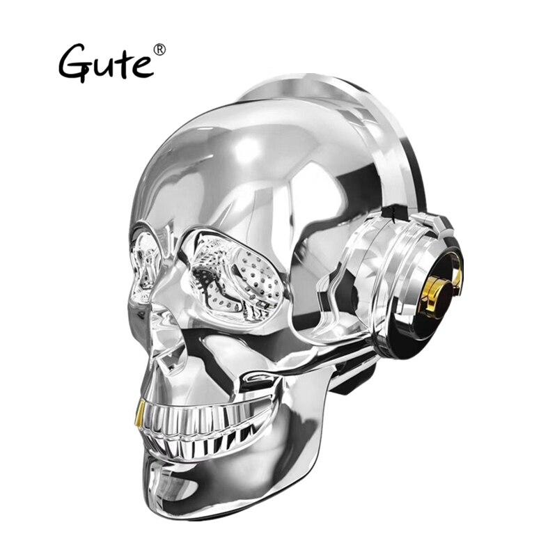 Gute tête de crâne haut-parleur éblouir LED flamme Portable Bluetooth stéréo noël cadeau Unique innovant caixa de som enfant boom boîte